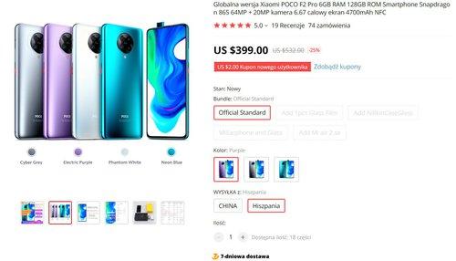 Xiaomi POCO F2 Pro dostêpny po obni¿onej cenie