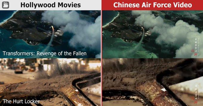 Takie Rzeczy Tylko W Chinach, czyli do produkcji filmu propagandowego u¿yto fragmentów amerykañskich filmów