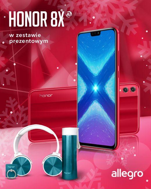 Honor 8X w czerwonym kolorze do kupienia na Allegro, oferta ograniczona czasowo