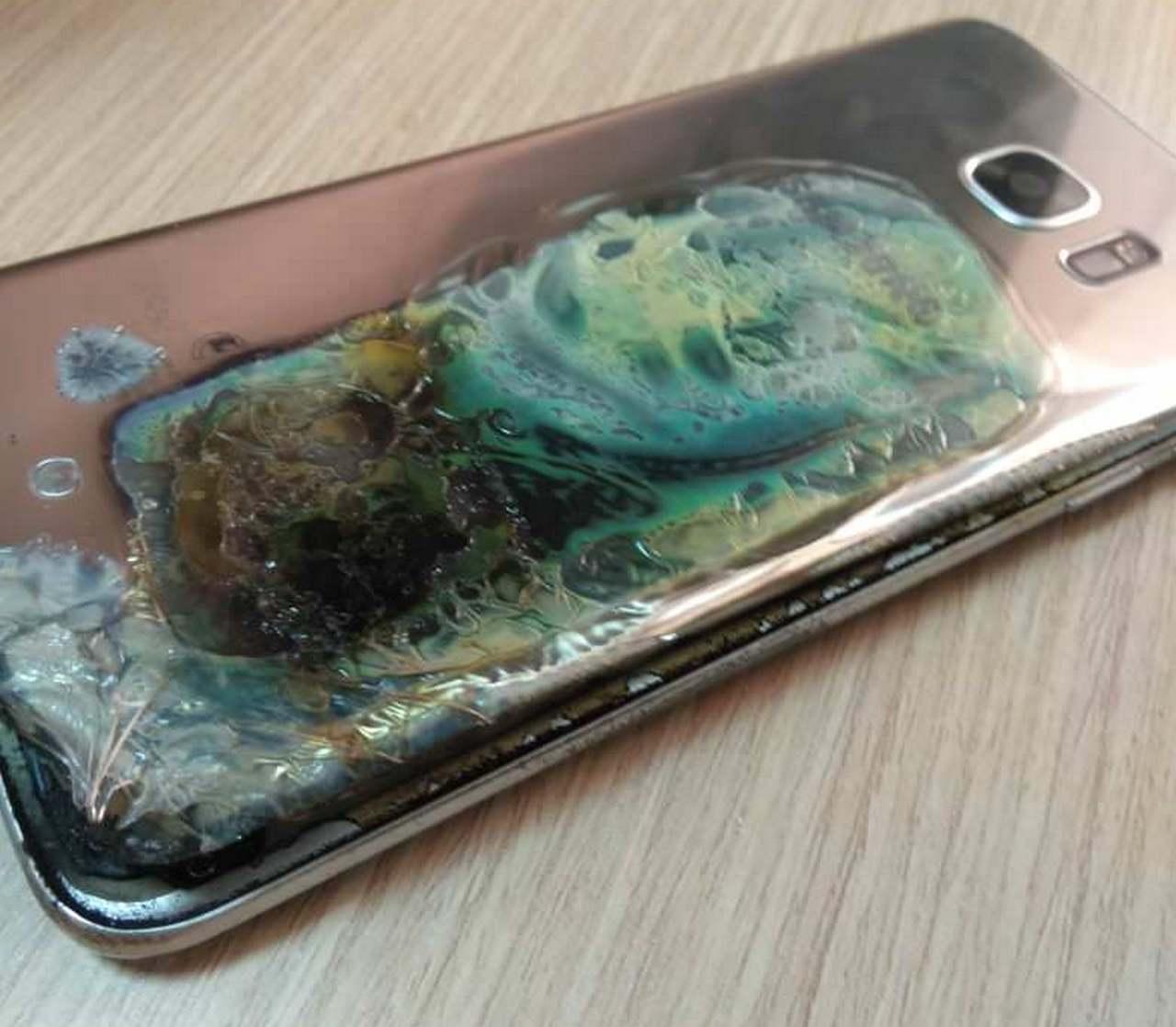 Tym razem wybuch³ Samsung Galaxy S7 Edge