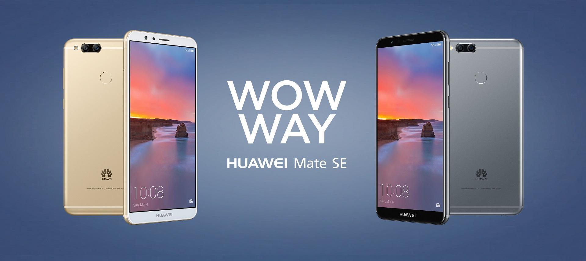 Huawei Mate SE ma teraz Androida 8.0 Oreo