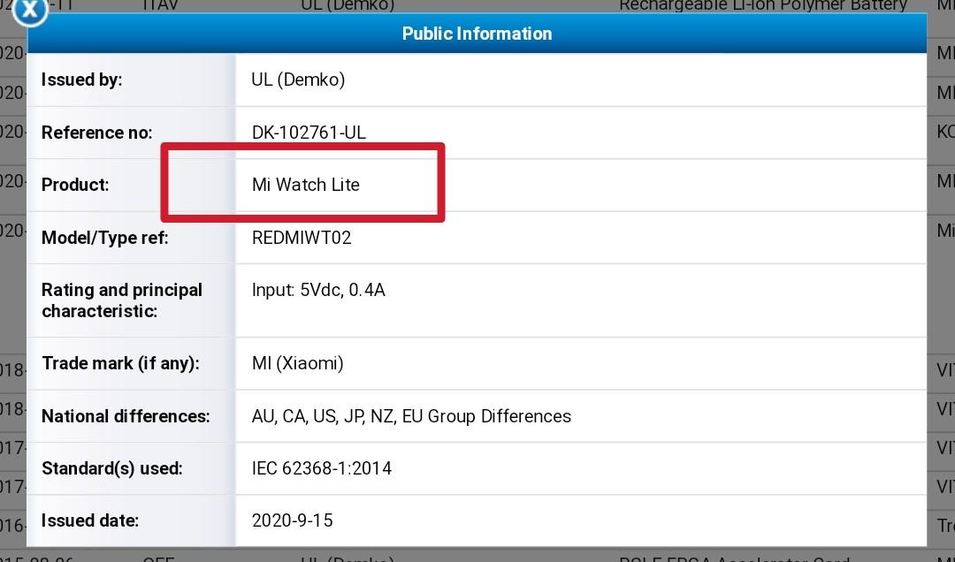 Mi Watch Lite, nowy smartwatch Xiaomi otrzyma³ certyfikat