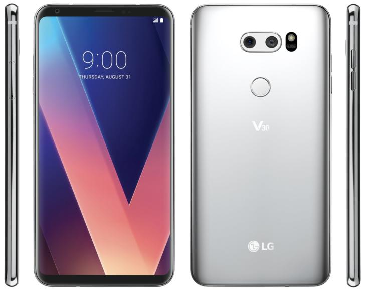 Wyciek³ oficjalny render LG V30