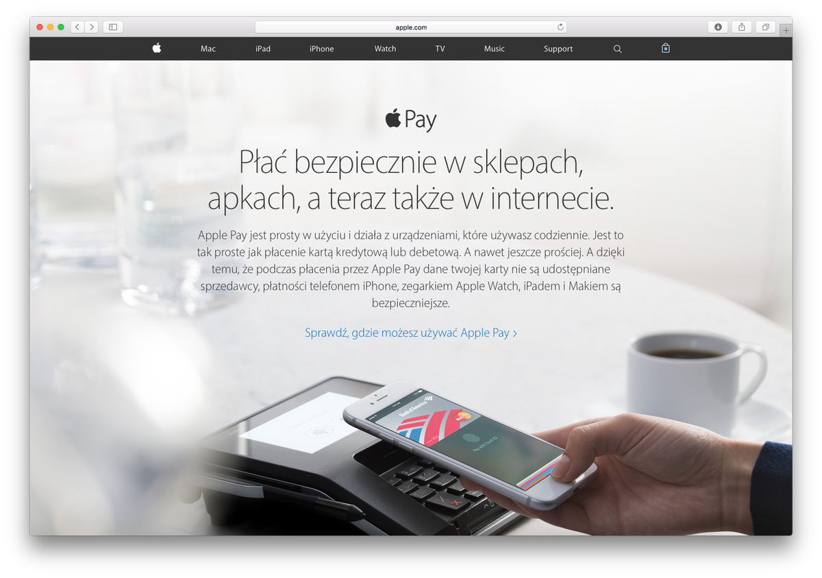 Apple Pay od jutra dostêpne w Polsce