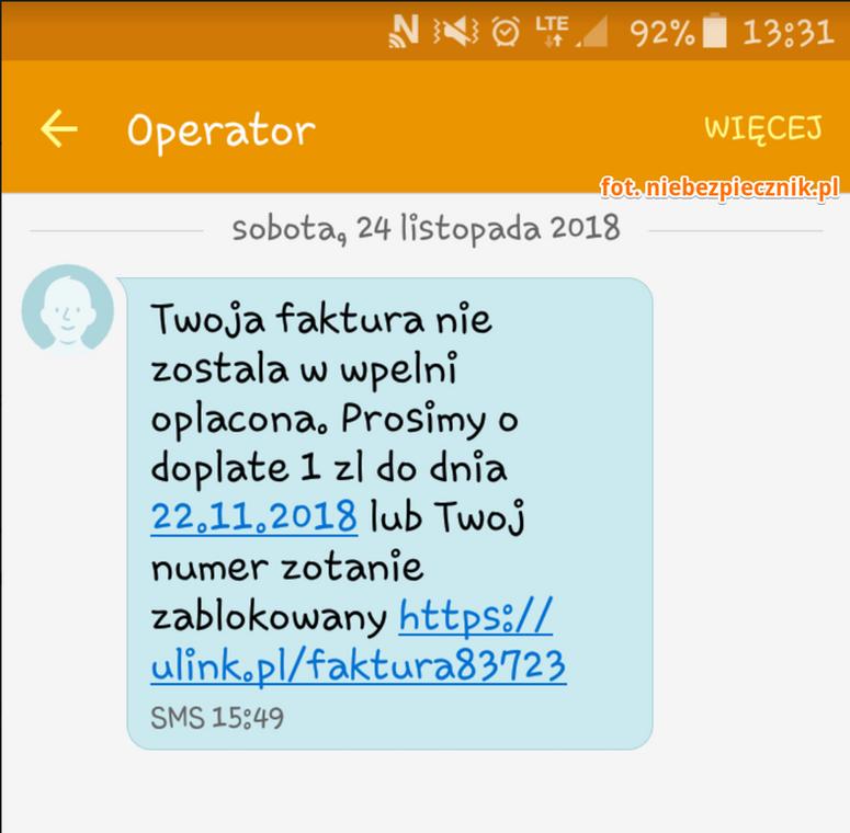 Kolejny przekrêt SMS czyli ziew, jeszcze im siê nie znudzi³o...