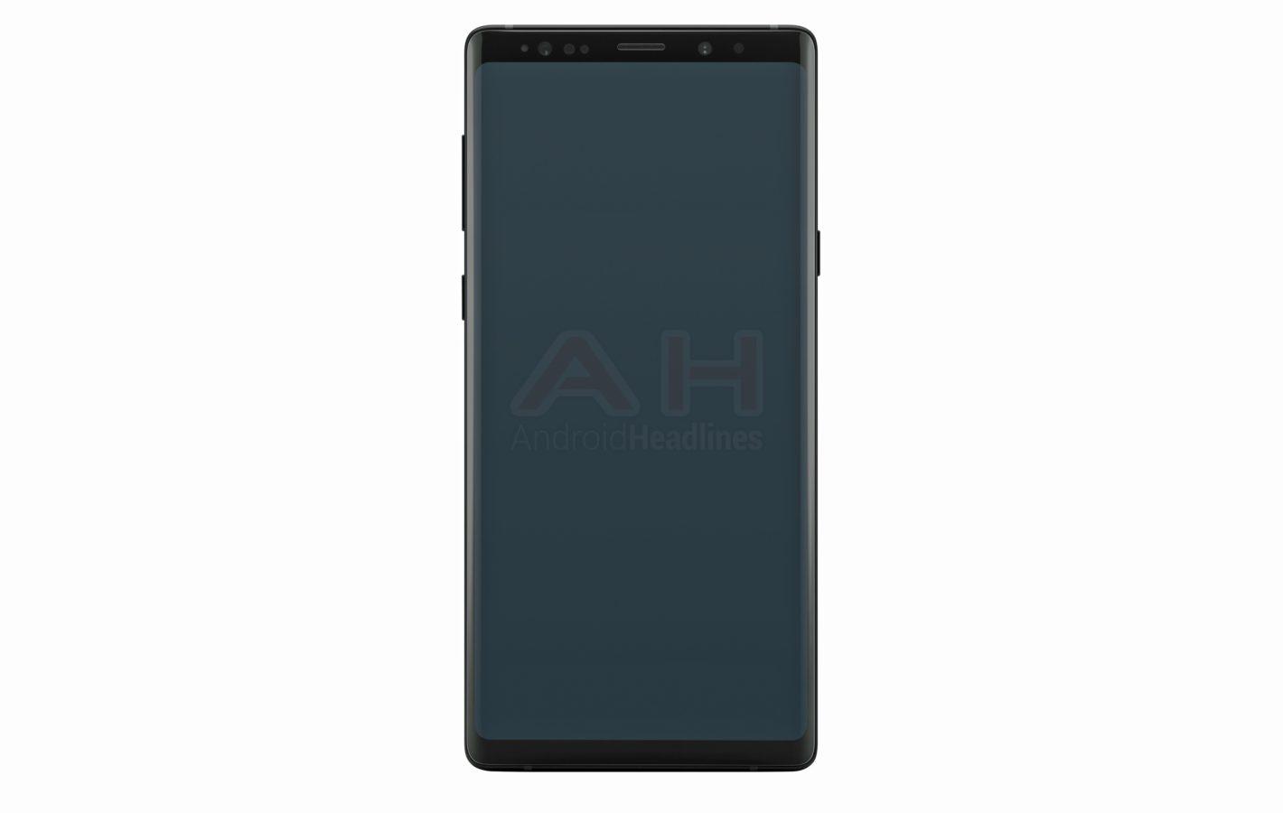 Wyciek³ frontowy panel Galaxy Note 9