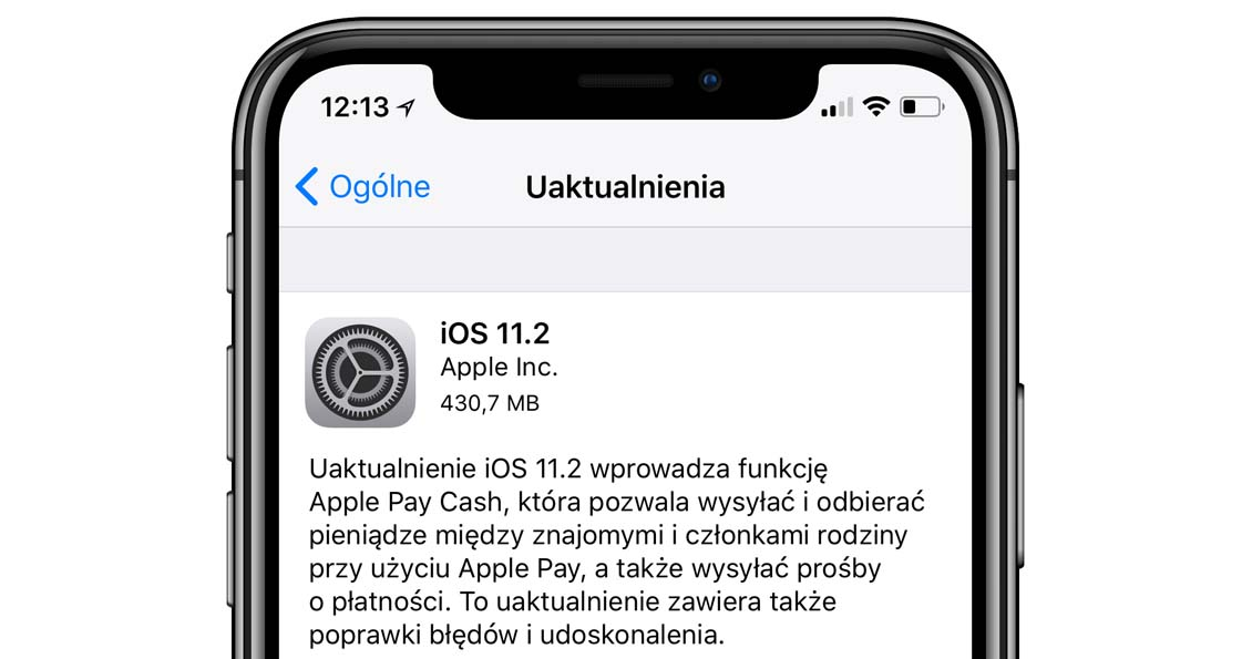 Apple wyda³o aktualizacjê iOS 11.2