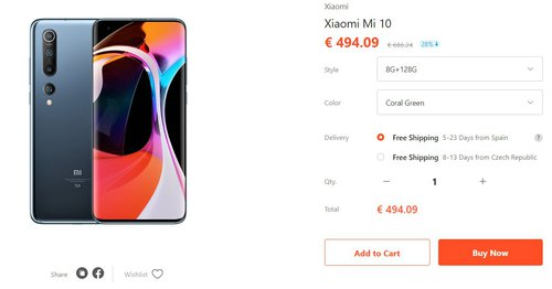 Trwa promocja na Xiaomi Mi 10