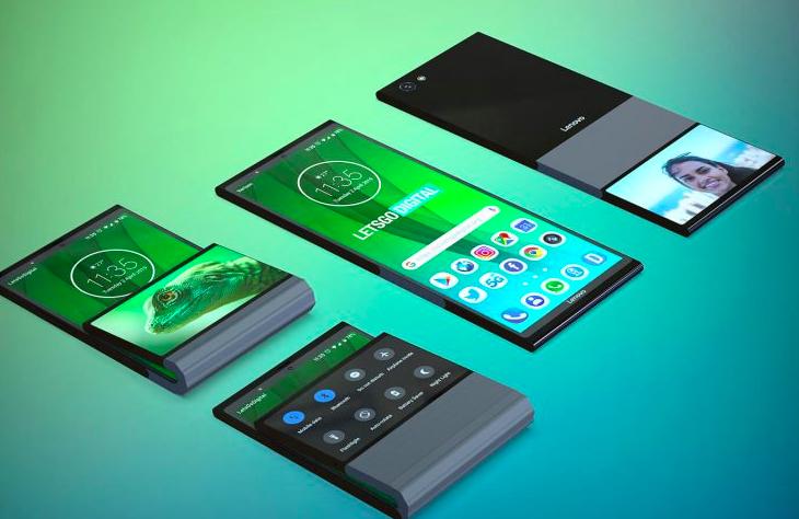 Lenovo patentuje w³asny sk³adany telefon. Wygl±da nietypowo
