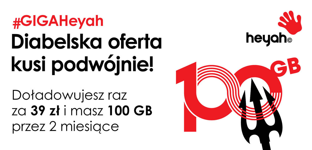 100 GB za 39 z³m czyli nowa oferta Heyah