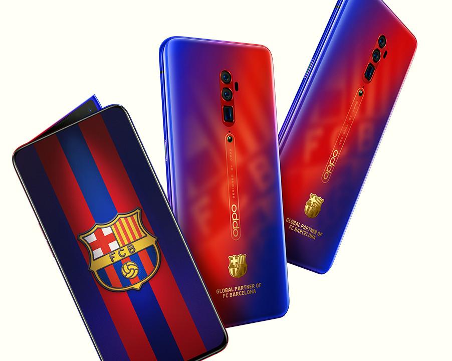 OPPO Reno 10X Zoom FC Barcelona Edition. Smartfon OPPO z bajerami