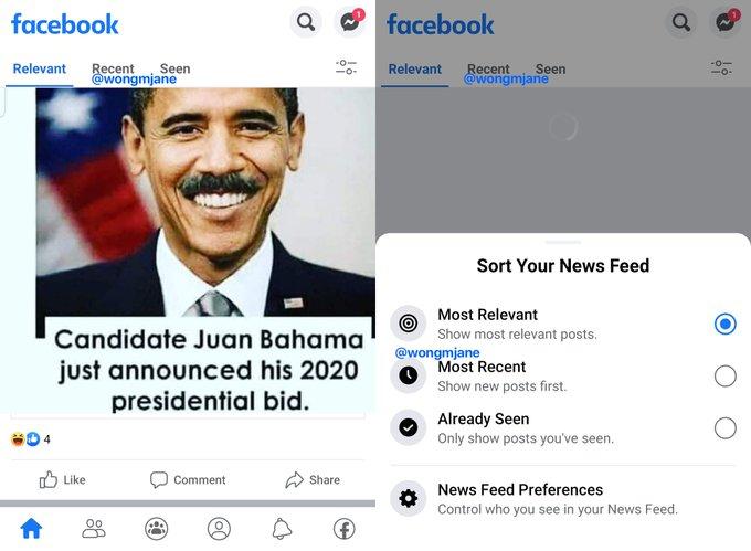 Facebook testuje zarz±dzanie kana³em aktualno¶ci poprzez zak³adkê