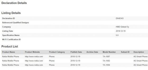 Nokia 9 odkryta w bazie danych Bluetooth SIG