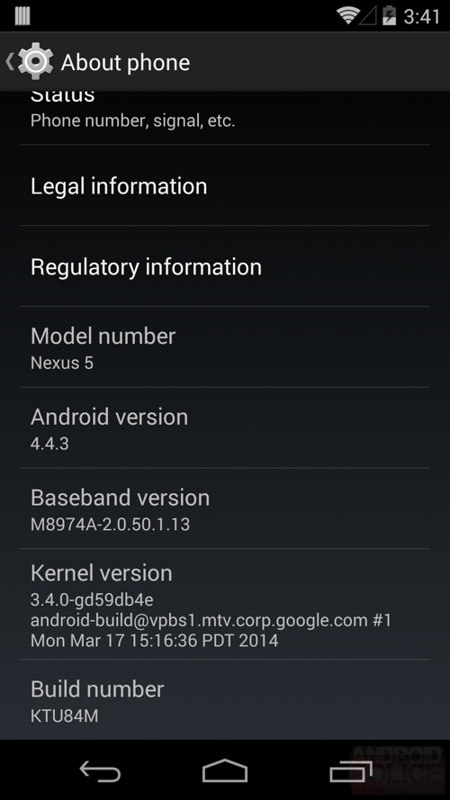 Aktualizacja Androida dla Nexusa 4,5 i 7