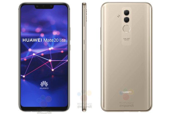 Mamy render i czê¶æ specyfikacji Huawei Mate 20 Lite