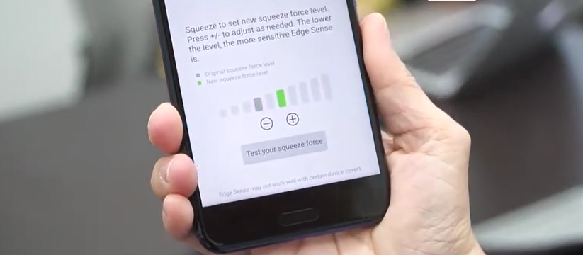 Funkcja Edge Sense telefonu HTC U11 dosta³a solidny update