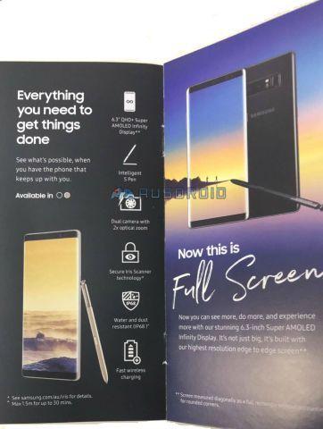 Wyciek³a broszura Galaxy Note 8, potwierdza du¿o z tego, co dot±d wiadomo