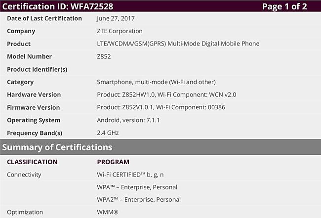 Dwa nowe telefony ZTE otrzyma³y w³a¶nie certyfikat WiFi