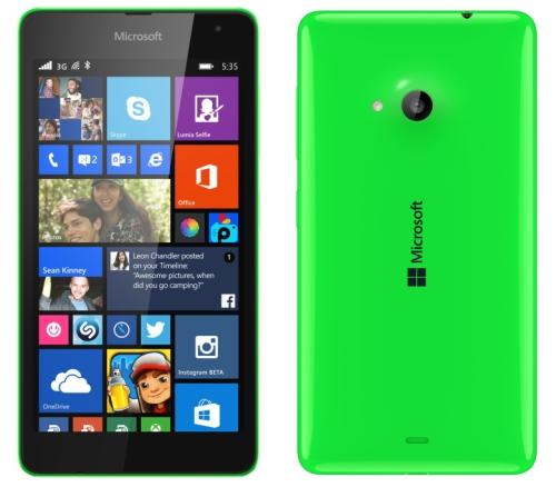 Microsoft Lumia 535 oficjalnie z ekranem 5