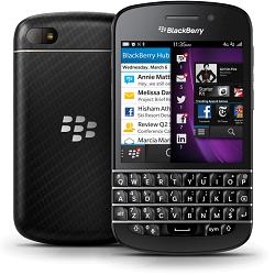 Usuñ simlocka kodem z telefonu Blackberry Q10